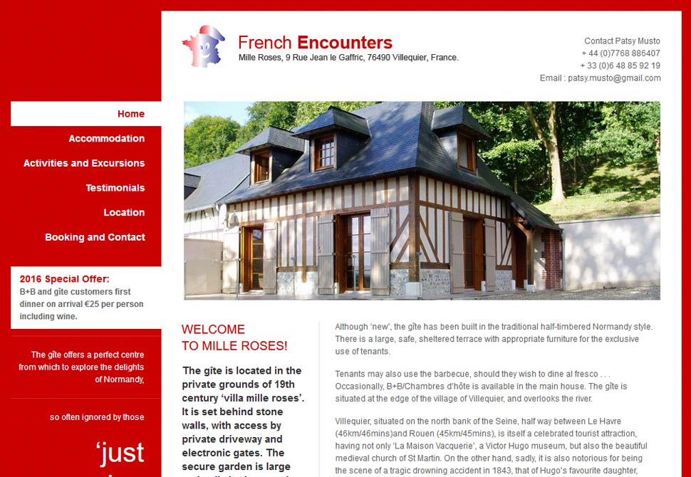 french encounters website portfolio