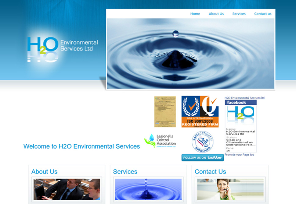 h2o environmental services website portfolio