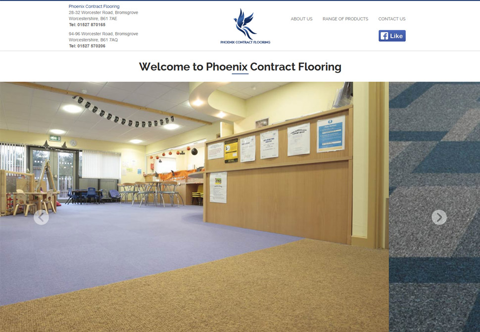 phoenix contract flooring website portfolio