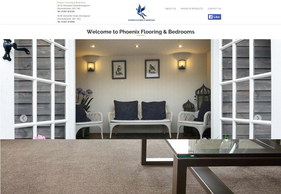 phoenix flooring and bedrooms website portfolio