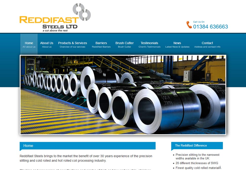 reddifast steels website portfolio