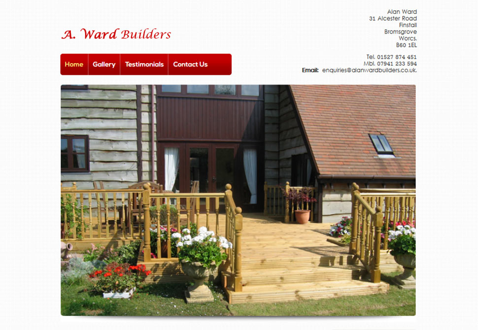 a.ward builders website portfolio
