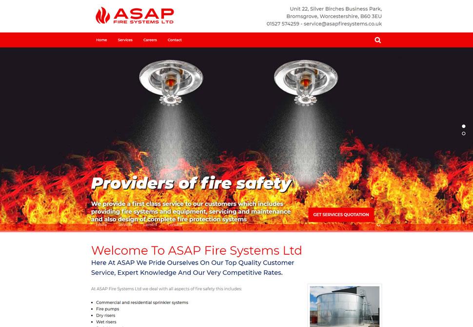 asap fire systems website portfolio