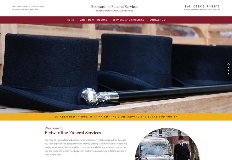 bedwardine Funeral Services website portfolio