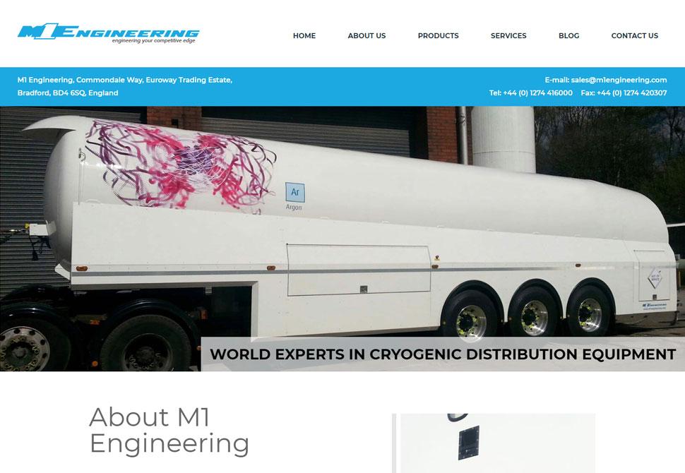 M1engineering website portfolio